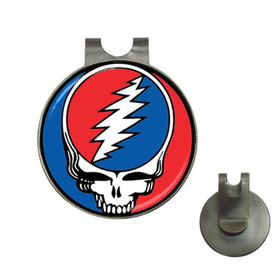 Golf Hat Clip with Ball Marker : Grateful Dead - Steal Your Face