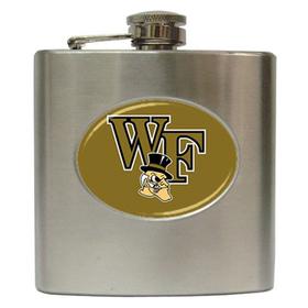 Liquor Hip Flask (6oz) : Wake Forest Demon Deacons