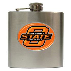 Liquor Hip Flask (6oz) : Oklahoma State Cowboys