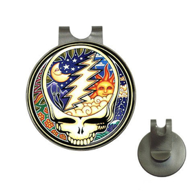 Golf Hat Clip with Ball Marker : Grateful Dead - Steal Your Face - Cosmic
