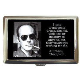 Cigarette Case : Hunter S. Thompson - Photo Quote