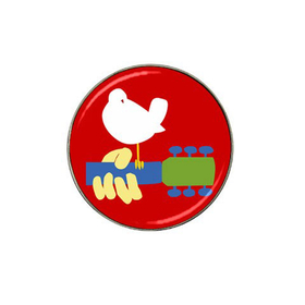 Golf Ball Marker : Woodstock Festival 1969, Dove & Guitar