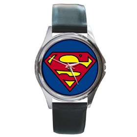 Silver-Tone Watch : Superman Shield
