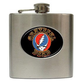 Liquor Hip Flask (6oz) : Grateful Dead - Steal Your Face