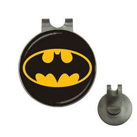 Golf Hat Clip with Ball Marker : Batman Shield