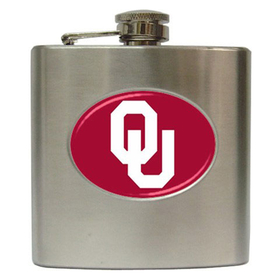 Liquor Hip Flask (6oz) : Oklahoma Sooners