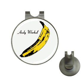 Golf Hat Clip with Ball Marker : Andy Warhol - Banana