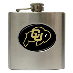 Liquor Hip Flask (6oz) : Colorado Buffaloes