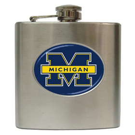 Liquor Hip Flask (6oz) : Michigan Wolverines