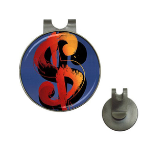 Golf Hat Clip with Ball Marker : Andy Warhol - Dollar Sign