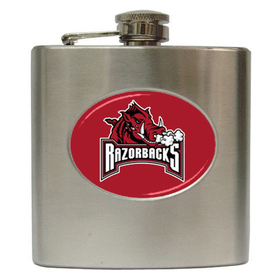Liquor Hip Flask (6oz) : Arkansas Razorbacks