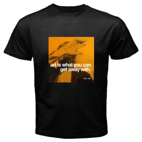 Black T-Shirt : Andy Warhol - Photo Quote (Yellow)