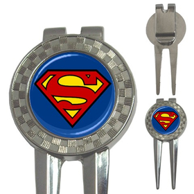 Golf Divot Repair Tool : Superman Shield