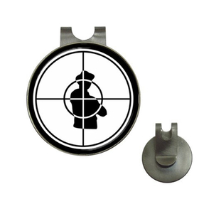 Golf Hat Clip with Ball Marker : Public Enemy