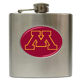 Liquor Hip Flask (6oz) : Minnesota Golden Gophers