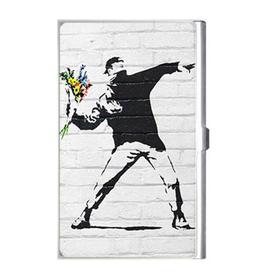 Card Holder : Banksy - Flower Bomber