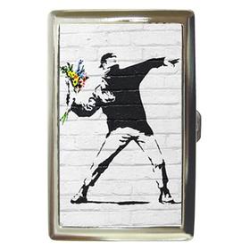 Cigarette Case : Banksy - Flower Bomber