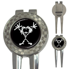 Golf Divot Repair Tool : Pearl Jam - Stickman (black-white)