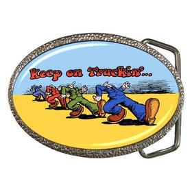 Belt Buckle : Keep on Truckin'