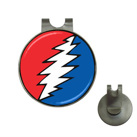 Golf Hat Clip with Ball Marker : Grateful Dead - Bolt