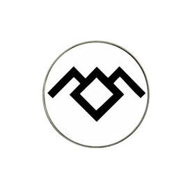 Golf Ball Marker : Twin Peaks - Owl Cave (white-black)