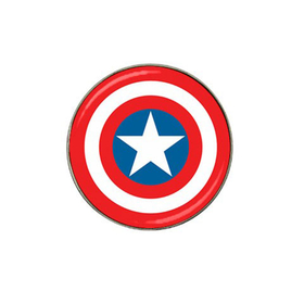 Golf Ball Marker : Captain America Shield