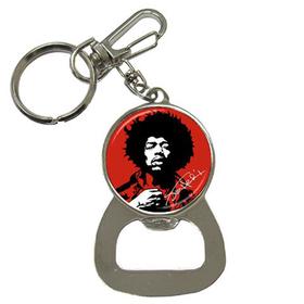 Bottle Opener Keychain : Jimi Hendrix