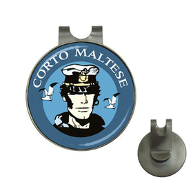 Golf Hat Clip with Ball Marker : Corto Maltese