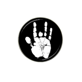Golf Ball Marker : Jerry Garcia Handprint (black-white)