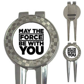Golf Divot Repair Tool : May The Force Be With You (white-black)