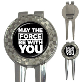 Golf Divot Repair Tool : May The Force Be With You - Star Wars (black-white)