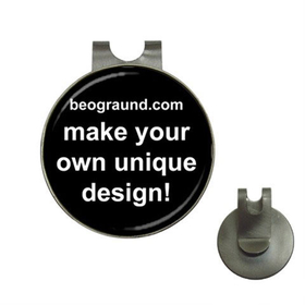 Golf Hat Clip with Ball Marker - Custom Design
