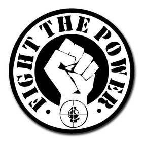 Mousepad (Round) : Public Enemy - Fight the Power