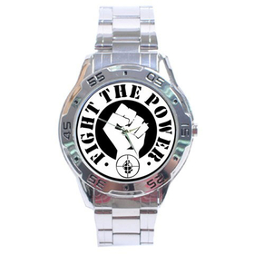 Chrome Dial Watch : Public Enemy - Fight the Power