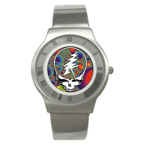 Roman Dial Watch : Grateful Dead - Steal Your Face - Fractal
