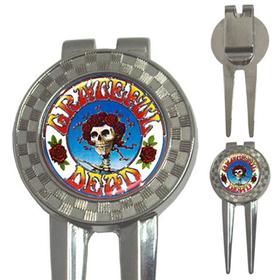 Golf Divot Repair Tool : Grateful Dead - Skull & Roses