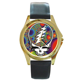 Gold-Tone Watch : Grateful Dead - Steal Your Face - Fractal