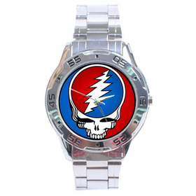 Chrome Dial Watch : Grateful Dead - Steal Your Face