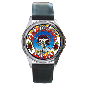 Silver-Tone Watch : Grateful Dead - Skull & Roses