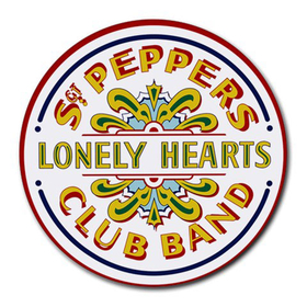 Mousepad (Round) : Beatles - Sgt. Pepper's Lonely Hearts Club Band