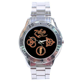 Chrome Dial Watch : Led Zeppelin Symbols