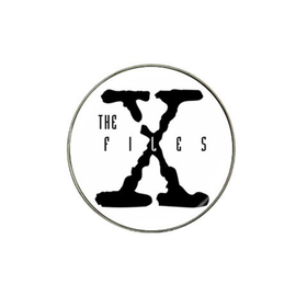 Golf Ball Marker : X-Files (white-black)