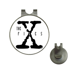 Golf Hat Clip with Ball Marker : X-Files (white-black)