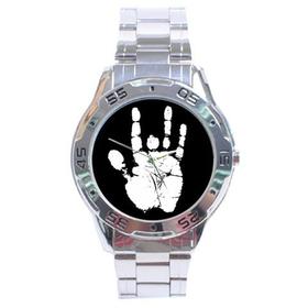 Chrome Dial Watch : Jerry Garcia Handprint