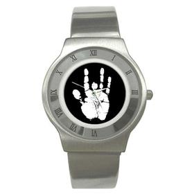 Roman Dial Watch : Jerry Garcia Handprint
