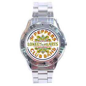 Chrome Dial Watch : Beatles - Sgt. Pepper's Lonely Hearts Club Band
