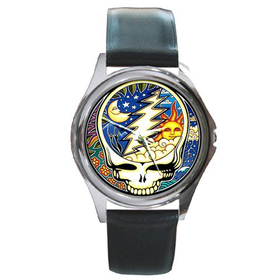 Silver-Tone Watch : Grateful Dead - Steal Your Face - Cosmic