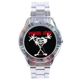 Chrome Dial Watch : Pearl Jam - Stickman