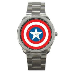 Casual Sport Watch : Captain America Shield