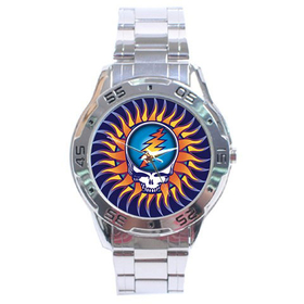 Chrome Dial Watch : Grateful Dead - Steal Your Face - Sun